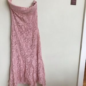 Pink Lace sleeveless dress